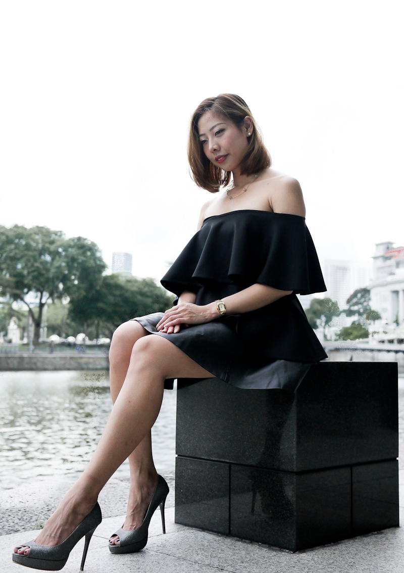 How to wear all black outfit Singapore Fashion Blogger